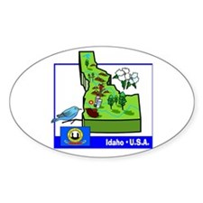Idaho Map Oval Decal