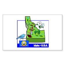 Idaho Map Rectangle Decal