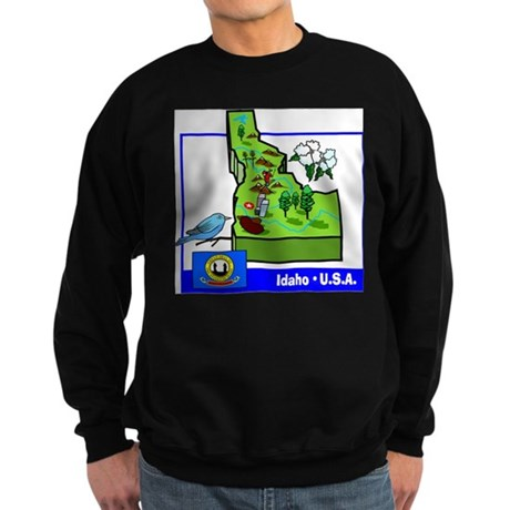 Idaho Map Sweatshirt (dark)