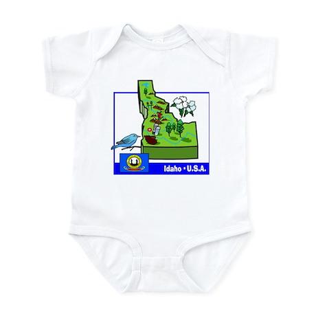 Idaho Map Infant Bodysuit