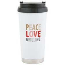 Peace Love Grilling Travel Mug