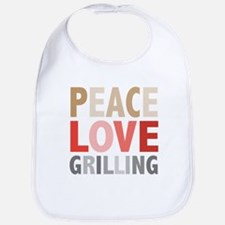Peace Love Grilling Bib