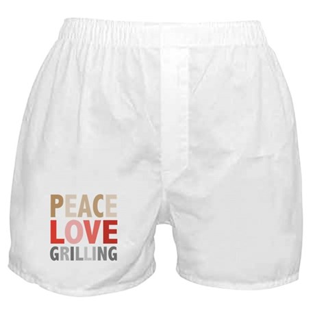 Peace Love Grilling Boxer Shorts