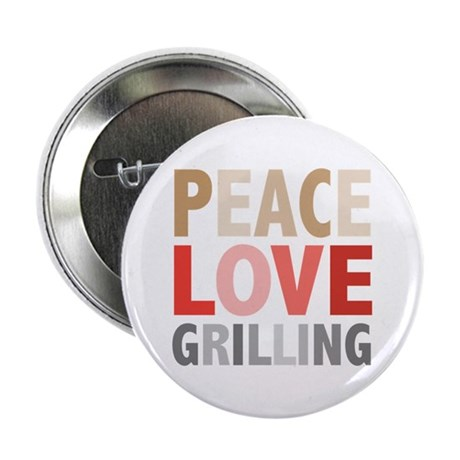 """Peace Love Grilling 2.25"""" Button (10 pack)"""