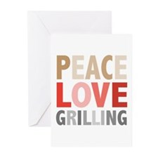 Peace Love Grilling Greeting Cards (Pk of 10)
