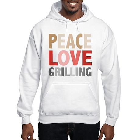 Peace Love Grilling Hooded Sweatshirt