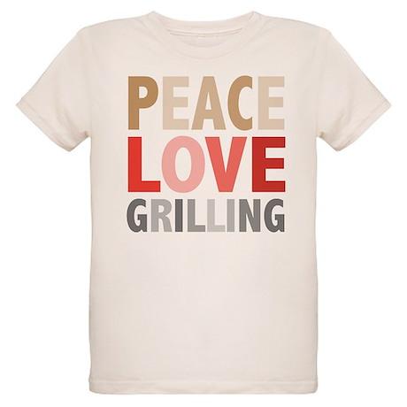 Peace Love Grilling Organic Kids T-Shirt