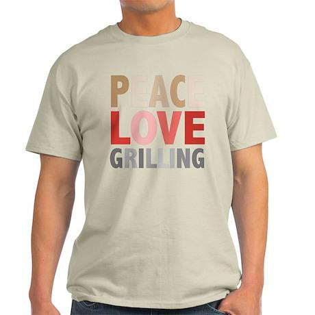 Peace Love Grilling Light T-Shirt