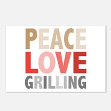 Peace Love Grilling Postcards (Package of 8)
