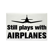 Still plays with Airplanes-Co Rectangle Magnet