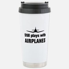 Still plays with Airplanes-Co Thermos Mug