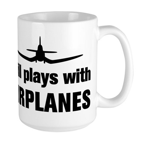 Still plays with Airplanes-Co Large Mug