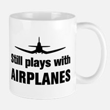 Still plays with Airplanes-Co Small Small Mug