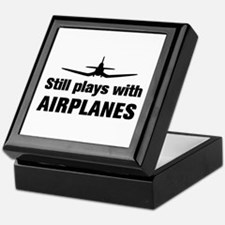 Still plays with Airplanes-Co Keepsake Box