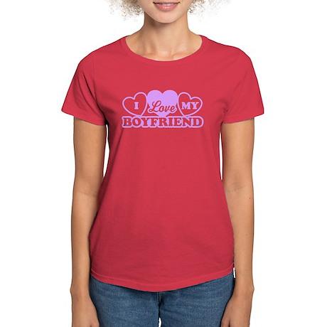 I Love My Boyfriend Women's Dark T-Shirt