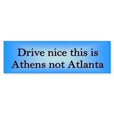 Athens not Atl Bumper Bumper Sticker