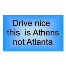 Athens not Atl Rectangle Decal
