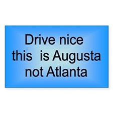 Augusta not Atl Rectangle Decal
