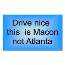 Macon not Atl Rectangle Decal