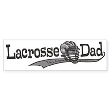Lacrosse Dad Helmet Bumper Bumper Sticker