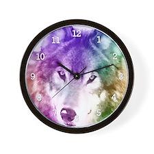 Wolf Gaze Art Wall Clock