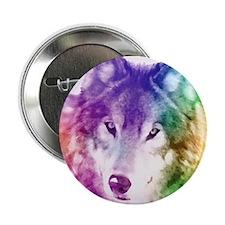 """Wolf Gaze Art 2.25"""" Button"""