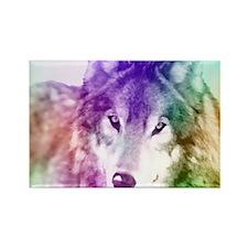 Wolf Gaze Art Rectangle Magnet (10 pack)