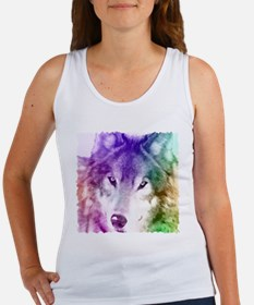 Wolf Gaze Art Women's Tank Top