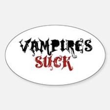 Vampires Suck Oval Decal