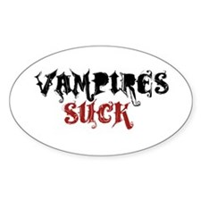 Vampires Suck Oval Sticker (10 pk)