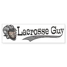 Lacrosse Guy Cartoon Bumper Bumper Sticker
