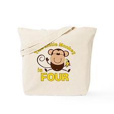 Little Monkey 4th Birthday Boy Tote Bag