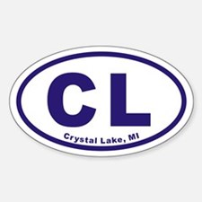 Crystal Lake Michigan CL Euro Oval Decal