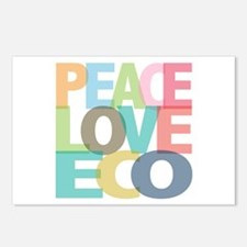 Peace Love Eco Postcards (Package of 8)