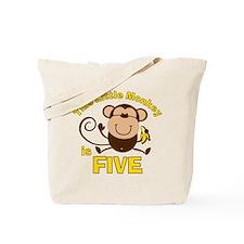 Little Monkey 5th Birthday Boy Tote Bag