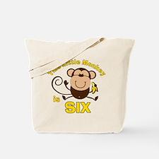 Little Monkey 6th Birthday Boy Tote Bag