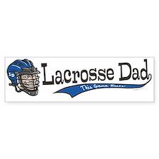 Lacrosse Dad Cartoon Bumper Bumper Sticker