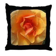 Square Bloom Throw Pillow