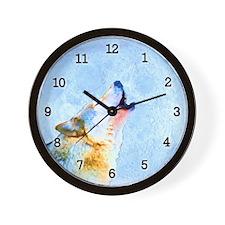 Howling Moon - Wolf Art Wall Clock