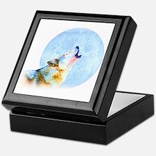 Howling Moon - Wolf Art Keepsake Box
