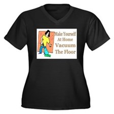 Make Yourself At Home Women's Plus Size V-Neck Dar