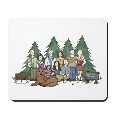 Twilight Family Characteriture Mousepad