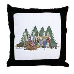 Twilight Family Characteriture Throw Pillow