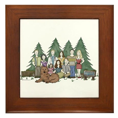 Twilight Family Characteriture Framed Tile