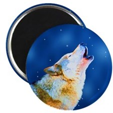 "Midnight Howl - Wolf Art 2.25"" Magnet (10 pack)"