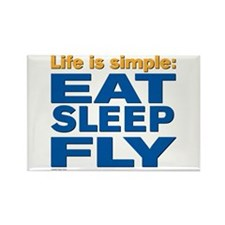 2-EatSleepFly Magnets