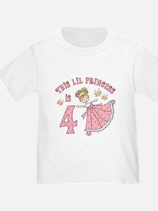 Pretty Princess 4th Birthday T