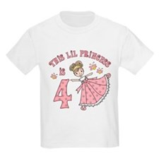Pretty Princess 4th Birthday T-Shirt