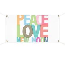 Peace Love New Moon Banner