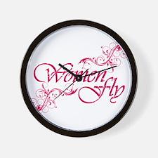 Women Fly Wall Clock